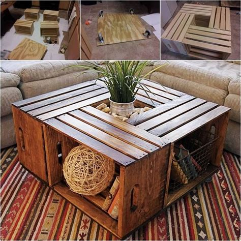 how to a coffee table out of crates best 25 wine crate coffee table ideas on diy