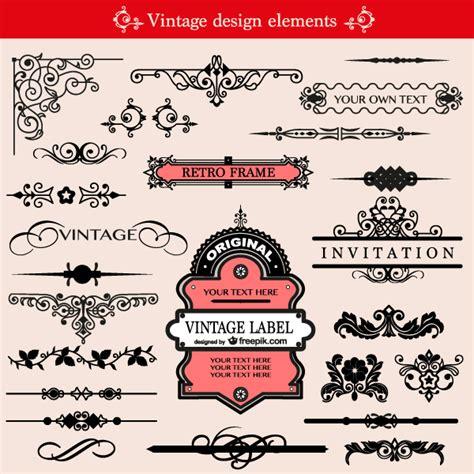 design elements vector pack free vintage ornament design elements vector pack