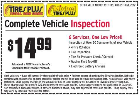 ls plus discount coupons tires plus 14 99 vehicle inspection printable coupon