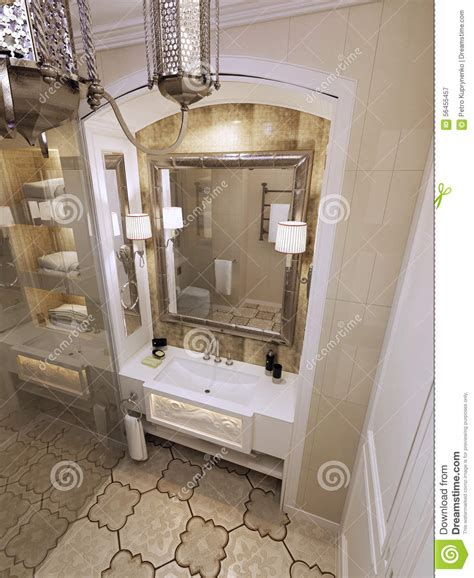 eastern bathroom eastern bathroom moroccan style stock illustration image