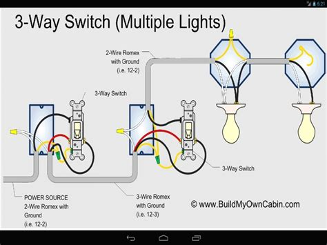 three way switch diagram wiring diagram with description