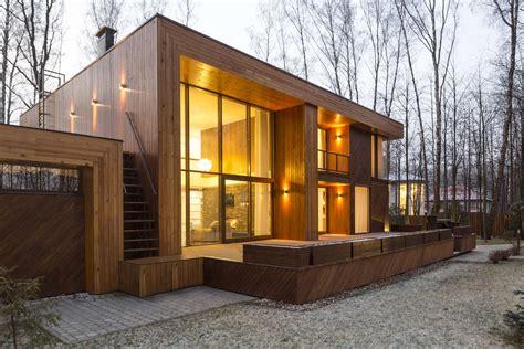casa madera moderna dise 241 o de casa de madera de dos pisos