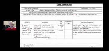 treatment plan template social work treatment plan exle