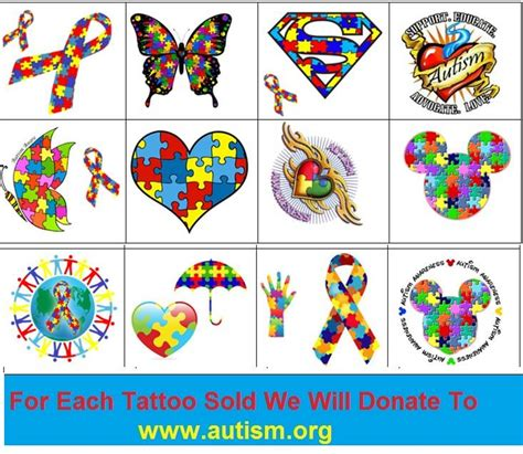 autism awareness temporary tattoos kaz creations