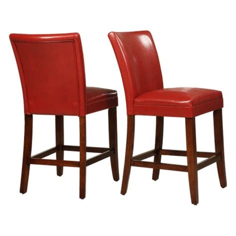 parson bar stool elizabeth parson 24 quot counter stool hardwood red target