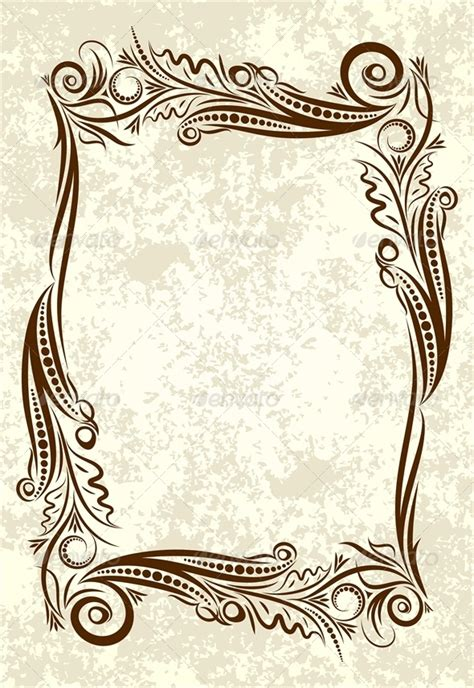 Wedding Engagement Borders by Decorative Background Adornment Background Baroque