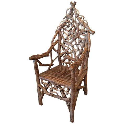 Extraordinary Chairs extraordinary 19th century adirondack twig chair at 1stdibs