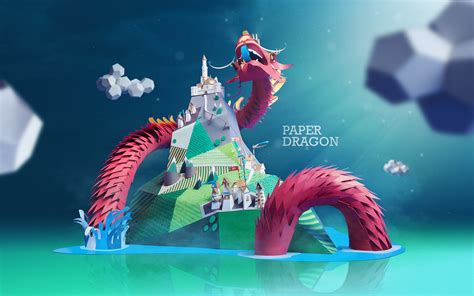 wallpaper craft in paper dragon on behance