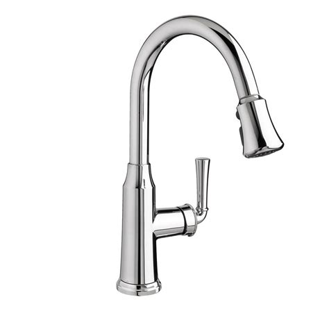 American Standard Faucet Kitchen American Standard Portsmouth Single Handle Pull Sprayer Kitchen Faucet In Polished Chrome
