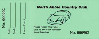Numbered Tickets Can Be Used For More Than Just Raffles Valet Parking Tickets Templates