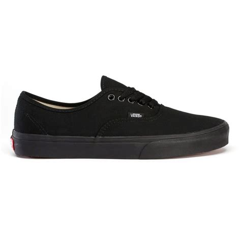 buy vans u authentic half size black black skate shoes