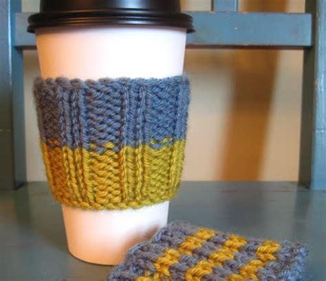 coffee cozy knit pattern lavenderkitty latte cup sleeve pattern