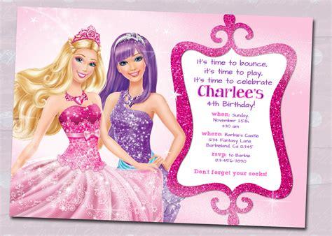 printable birthday invitations barbie barbie birthday invitation card free printable festival
