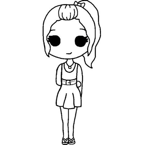 anime chibi we it chibi template we it black and white colour in