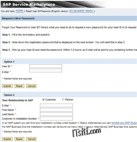 password reset tool in sap how to reset sap id for sap service marketplace