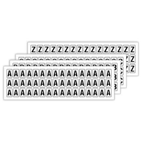 Buchstaben Aufkleber Wei by Klebebuchstaben Im Set 9mm Hoch A Bis Z 14mm X 9mm