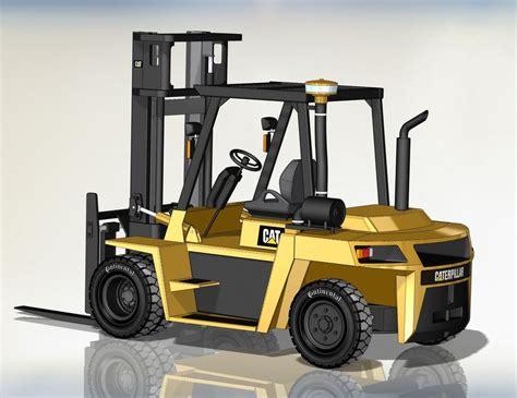 Forklift 3d Cad Model