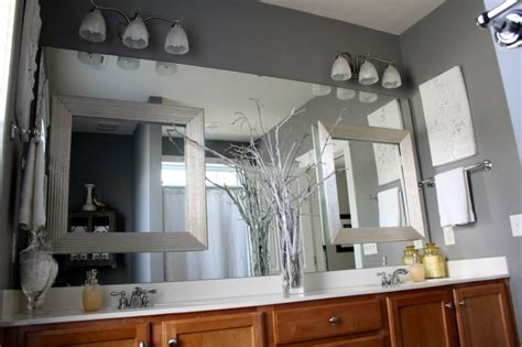 large bathroom mirror frames bathroom mirror inexpensive idea to dress up