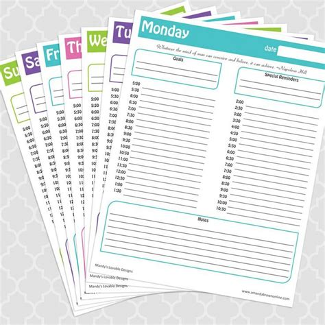 time management daily planner templates sweet and spicy bacon wrapped chicken tenders free