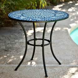 Small Outdoor Bistro Table Coral Coast Marina Mosaic Bistro Table Patio Dining Tables At Hayneedle