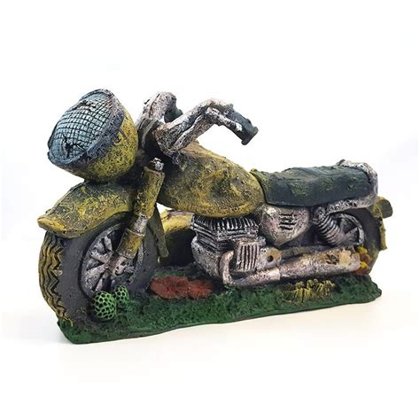 motorbike motorcycle fish tank aquarium ornament