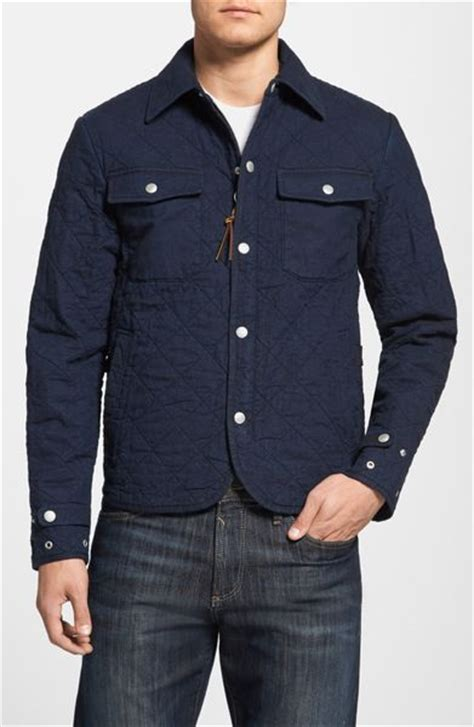 Mens Quilted Work Jackets by Prps Quilted Canvas Work Jacket In Blue For Indigo