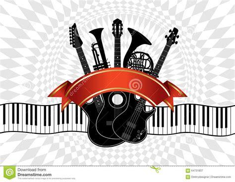 imagenes para logos musicales collage instrumentos musicales en un fondo abstracto