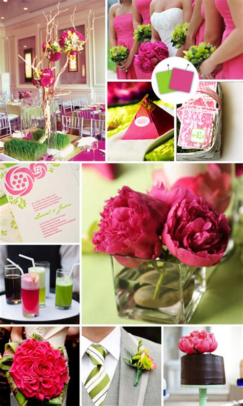 pink and lime green wedding theme project wedding forums