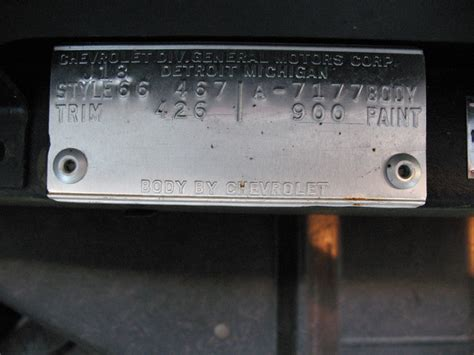 where did the name corvettee from 1968 corvette trim tag decoder html autos weblog