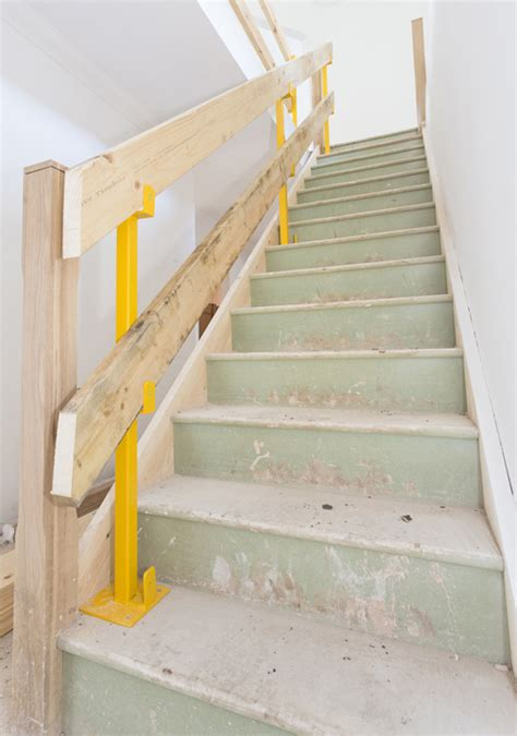stair safety post handrail safety post langtons