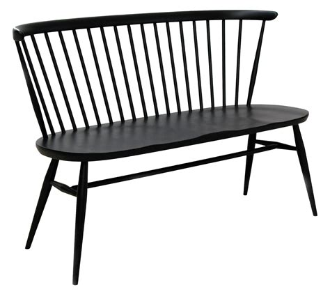 bench love love seat bench with backrest reissue 1955 black by ercol