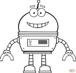 disegno robot sorridente da colorare disegni da colorare stampare gratis