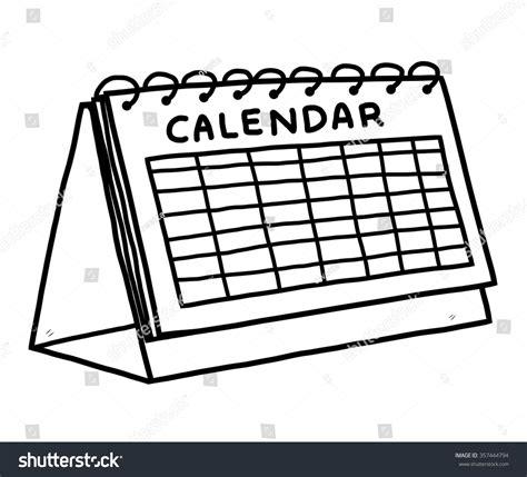 calendario clipart calendar vector illustration black white stock