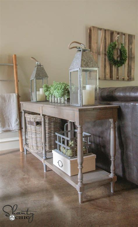pin by shanty 2 chic vintage french gray console table consoles console