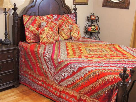 beaded bedspreads indian inspired bedding beaded duvet with