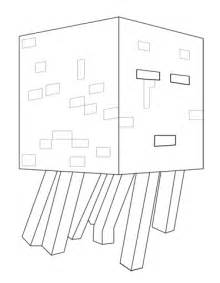 minecraft coloring pages ghast minecraft ghast coloring pages sketch coloring page