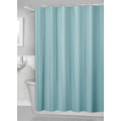 walmart ca shower curtain hometrends waffle fabric shower curtain with peva liner