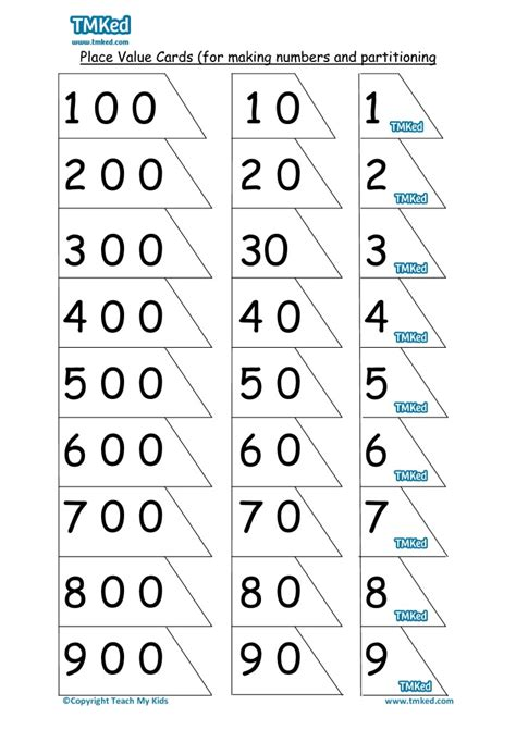 number place value cards printable free maths resources free teaching resources numeracy tmked