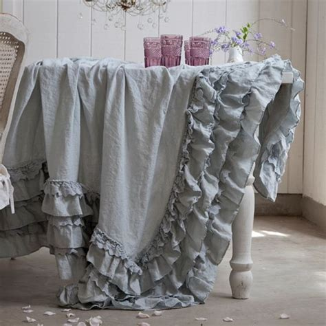 teal petticoat tablecloth from rachel ashwell shabby chic