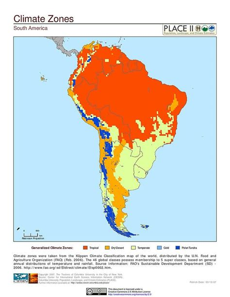 map south america climate zones  op pinterest