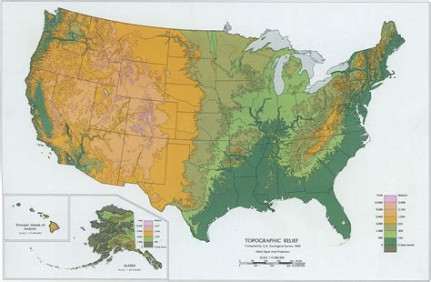 altitude map of usa mapa relieve mapas de relieve 187 estados unidos