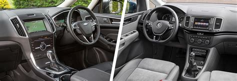 ford galaxy interior ford galaxy vs volkswagen sharan mpv comparison carwow