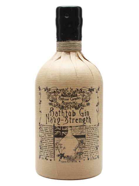 bathtub and gin professor cornelius ampleforth s bathtub navy strength gin