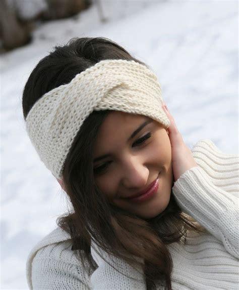 loom knit headband white iva headband powdered 2 free loom knit patterns