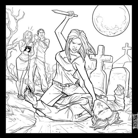 Buffy The Vire Slayer Coloring Pages Buffy The Vire Slayer Coloring Pages 7 Coloring by Buffy The Vire Slayer Coloring Pages