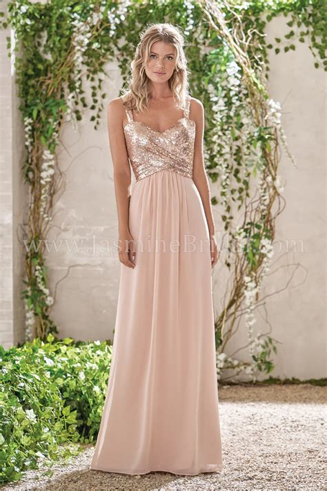 And Bridesmaid Dresses by B193005 Sweetheart Neckline Sequin Poly Chiffon