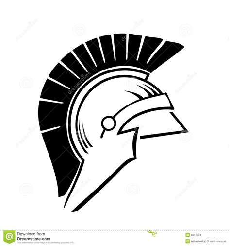 greek trojan helmet vector stock vector image of historic