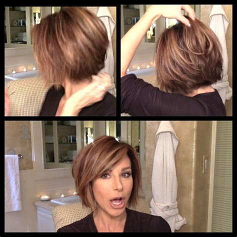dominique sachse hair change 2016 dominique sachse short bob with sideswept bangs hair