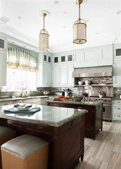 kitchens with two islands keep your kitchen island a mangeable size haskell