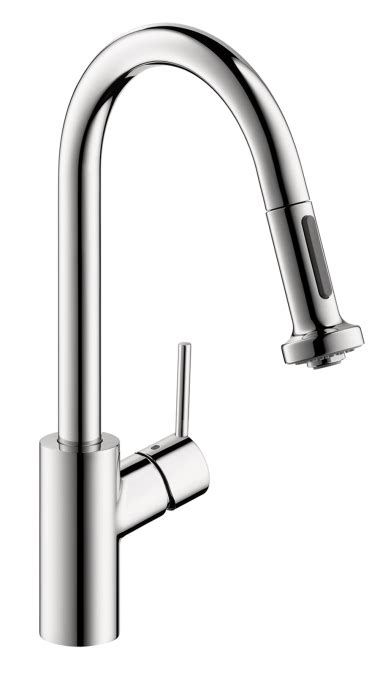 hansgrohe talis kitchen faucet hansgrohe talis s 2 spray higharc kitchen faucet pull